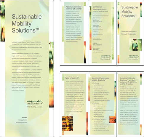 Sustainable Mobility Solutions, Conference Banner and Brochure