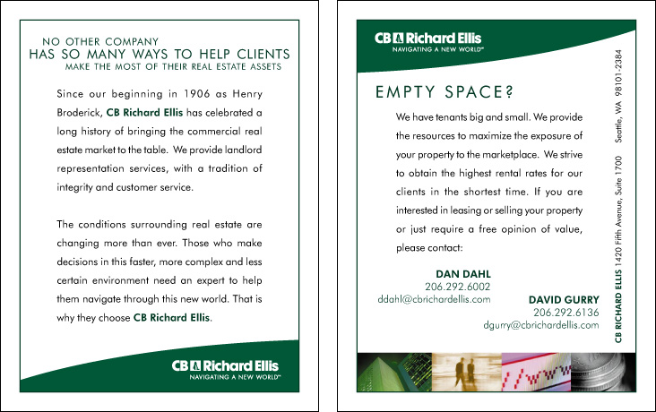 CB Richard Ellis Leasing Postcard